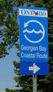 Georgian Bay Coastal Route route marker