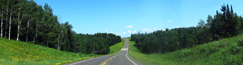 Lake Superior Circle Tour along WIS-13 eastbound in Douglas County, Wisconsin